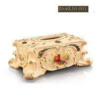 European style luxurious ceramic  tissue box  ID:#ZJH-002