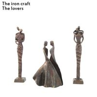 China sculpture or iron Crafts and Gifts or Handicrafts the Lovers made by iron
