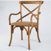 Antique Wooden Chair with Arm, Arm X Back Wooden Chair thumbnail image