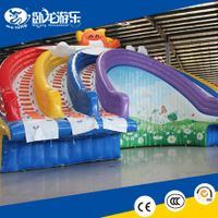 giant new design Rainbow inflatable water Slide for sale