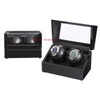 China wholesale merchandise double wooden watch winder boxes with custom logo. thumbnail image