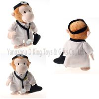 China made mokey doctor plush toy stuffed animals