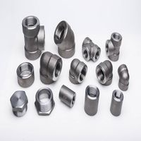 High pressure A105 SUS304 class 3000 steel threaded socket weld pipe fittings
