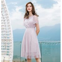 Solid color lace dress 2019 summer new style thumbnail image