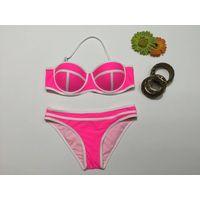 Brand New Ladies Bikini Hot Selling Worldwide Bandeau Top Fashion Swimweaer Bold Color New Arrival D