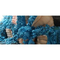 Blue memory foam scrap sponge for funiture mattress foam pillow competitive price fast delivery