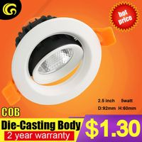 1.4 usd per set COB 5W led downlight