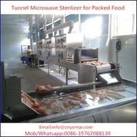 30KW Tunnel Microwave Packed Food Sterilizer ,Food Sterilizing Machine