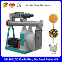 Double crane ring die poultry feed pellet mill for chicken farm