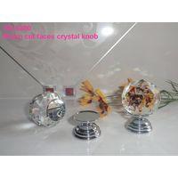 crystal cut faces knobs zinc base