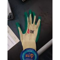 10gauge5threas polycotton liner with latex crinkle finished palm coating glove thumbnail image