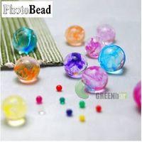 Beautiful 3D Marbleized photo beads thumbnail image