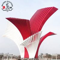 Factory Hot Sale Modern Polished Outdoor decorative Stainless Steel Art Sculpture