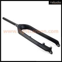 carbon bicycle parts, black 29er hardtail carbon mtb fork thumbnail image