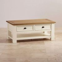 Tea And Coffee Table Wooden Luxurious 1 Drawers Living Room American Oak