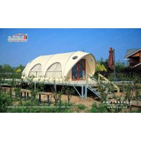 Outdoor Waterproof Aluminium Frame Shell Shape Luxury Glamping Tent for Sale thumbnail image