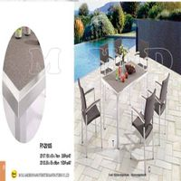 Garden Furniture Wicker Chair & Glass Spraystone Table Top(RY-2010S)