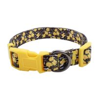 Polyester Dog Collars: Fashion Dog Collars With yellow flowers logo