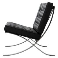Living room furniture barcelona chair chrome plated by Ludwig Mies Van Der Rohe thumbnail image