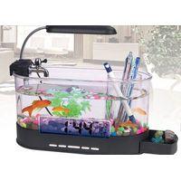 Mini All-in-1 USB Destop Aquarium Fish Tank with LED Light thumbnail image