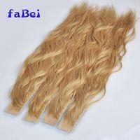 Wholesale virgin human brazilian straight ombre tape hair extensions thumbnail image