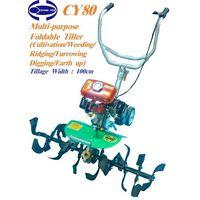 CY80 Multi-purpose Foldable Tiller/Cultivator/Hand tractor (100cm tilling width)