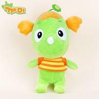 Little green dinosaur plush toy