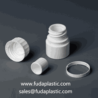plastic medicine bottle with desiccant cap