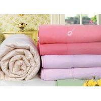 pure cashmere filled satin cotton covered quilt