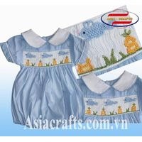 Kid smocked rompers