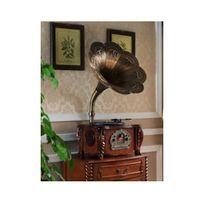 Vingtage Gramophone Music Record Turntable Player