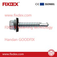 Hex Flange Head Zinc Self Drilling Screw PVC Washer thumbnail image