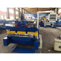 China roll forming machine to make glazed tile metal roofing