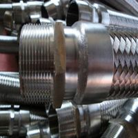 annular corrugated metallic hose with NPT fitting