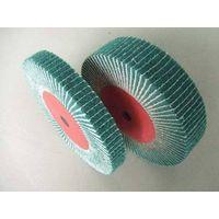 Interleaf Finishing Flap Brushes, flap wheel with sand cloth/sand paper, Interleaved flap wheel. thumbnail image