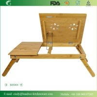 BH004 Home-using Folding Bamboo Computer Table on Bed for Laptop PC