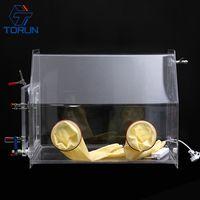 Laboratory Benchtop Transparent PMMA Acrylic & Plexiglass Vacuum Glove Box Isolator