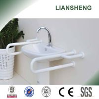 Wash basin grab bar