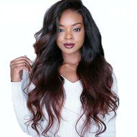 Overnight Delivery Loose Wave 1b99j Lace Wig Hair Brazilian Human Hair Full Lace Front Wig Ombre