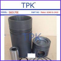 Komatsu S6D102,S6D114,S6D125,S6D140,S6C155,S6D170 Engine Parts, Liner kit, Piston, Ring Set, Cylinde