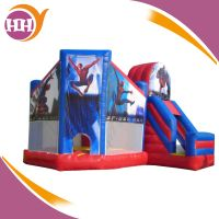 5 in 1 spiderman inflatable castle combo