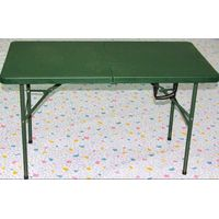 green army used folding table/4ft camping furniture picnic table foldig in half outdoor table for ar