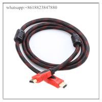 24k gold plated head Copper clad steel conductor Male-Male HDMI Cable 1.4 Version 1080p 3D 1.5M 3M 5 thumbnail image