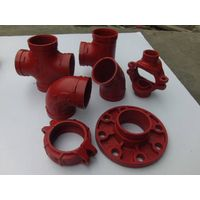 FM UL cUL CE approved ductile iron grooved coupling and grooved pipe fitting