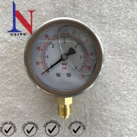 Bourdon Tube Bottom Pressure Gauge with Glycerin Oil