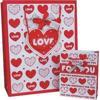 Love Heart Gift Bags with Gift Tags