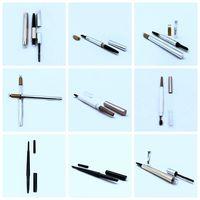 waterproof plastic liquid eyeliner pen eyebrow pencil packaging cosmetics containers with felt tip