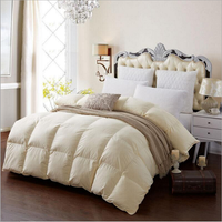 Beige popular duvet and dimension stability comforters filling with 70% white goose down
