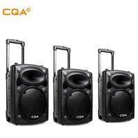CQA cheap good price 10/12/15 inch trolley speaker