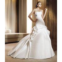 wholesale Gorgeous Satin Pleats Mermaid Sweetheart Wedding Dress D62861